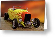 1932 Ford 'sunset' Studio' Roadster Greeting Card