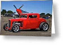 1932 Ford 'three Window' Coupe Vx Greeting Card