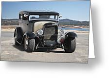 1932 Ford Tudor Sedan 'satin Doll' II Greeting Card