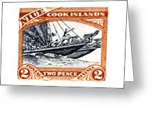 1932 Niue Island Stamp Greeting Card