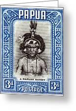 1932 Papuan Dandy Stamp Greeting Card