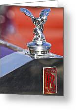 1932 Rolls-royce Hood Ornament 2 Greeting Card