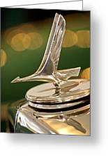 1932 Studebaker Dictator Custom Coupe Hood Ornament Greeting Card