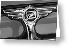 1933 Buick Victorian Emblem B And W Greeting Card