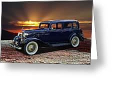 1933 Chevrolet 4 Door Eagle Sedan Greeting Card