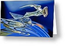 1933 Chrysler Imperial Hood Ornament Greeting Card