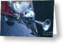 1933 Dodge Headlights And Horn Greeting Card