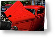 1933 Ford 3 Window Coupe Greeting Card