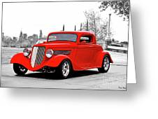 1933 Ford 'three Window' Coupe I Greeting Card