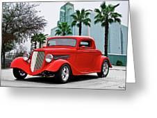 1933 Ford 'three Window' Coupe II Greeting Card