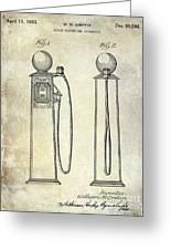 1933 Gas Pump Patent Greeting Card