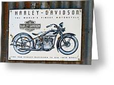 1933 Hd 74 Big Twin Greeting Card