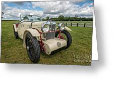 1933 Mg Sports Car Greeting Card