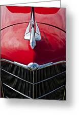1933 Oldsmobile Hood Ornament Greeting Card