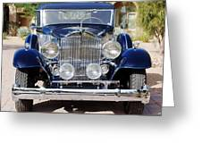 1933 Packard 12 Convertible Coupe Greeting Card