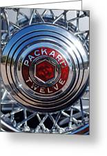 1933 Packard 12 Wheel Greeting Card