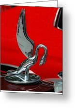 1933 Packard Goose  Hood Ornament Greeting Card