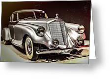 1933 Pierce-arrow Silver Arrow Greeting Card