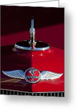 1933 Pontiac Hood Ornament 2 Greeting Card