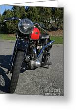 1934 Ariel Motorcycle Front View Greeting Card
