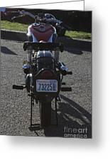 1934 Ariel Motorcycle Rear View Greeting Card