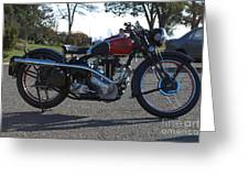 1934 Ariel Motorcycle Side View Greeting Card