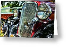 1934 Chevrolet Head Lights Greeting Card