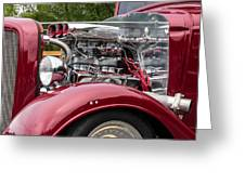1934 Chevy Truck Motor Greeting Card