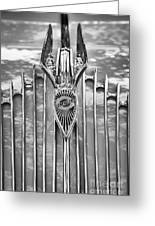 1934 Chrysler Airflow Hood Ornament Greeting Card
