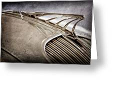 1934 Desoto Airflow Coupe Hood Ornament -2404ac Greeting Card by Jill Reger