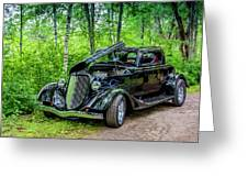 1934 Ford 3 Window Coupe Greeting Card