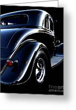 1934 Ford Coupe Rear Greeting Card