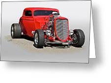 1934 Ford 'mean And Nasty' Coupe Greeting Card
