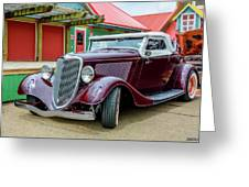 1934 Ford Roadster Hot Rod Greeting Card
