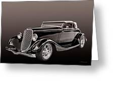 1934 Ford Roadster Greeting Card