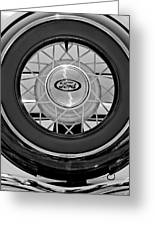 1934 Ford Roadster Spare Tire 2 Greeting Card