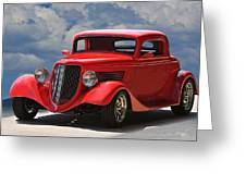 1934 Ford 'sherrys Cherry' Coupe Greeting Card