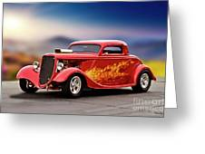 1934 Ford 'three Window' Coupe I Greeting Card