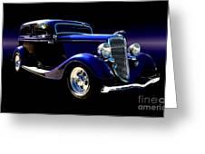 1934 Ford Tudor Sedan Greeting Card