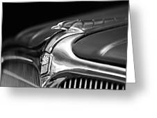 1934 Nash Ambassador 8 Hood Ornament 2 Greeting Card