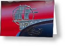 1934 Plymouth Hood Ornament 2 Greeting Card