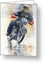 1934 Rudge Ulster Grand Prix Model  Greeting Card