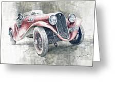 1934 Walter Standart S Jindrih Knapp 1000 Mil Ceskoslovenskych Winner  Greeting Card