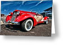 1935 Auburn Speedster 6895 Greeting Card