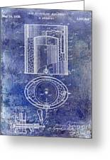 1935 Beer Equipment Patent Blue Greeting Card