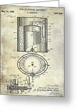 1935 Beer Equipment Patent  Greeting Card
