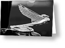 1935 Chevrolet Hood Ornament 4 Greeting Card