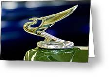 1935 Chevrolet Hood Ornament Greeting Card