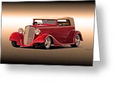 1935 Chevrolet Phaeton 3q Driver Side Greeting Card