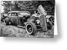1935 Chevy Sedan Rat Rod Greeting Card